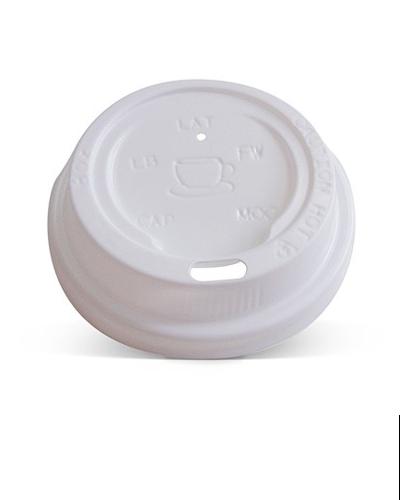80mm white lid