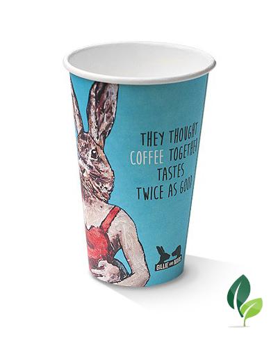 12oz single wall art print cup