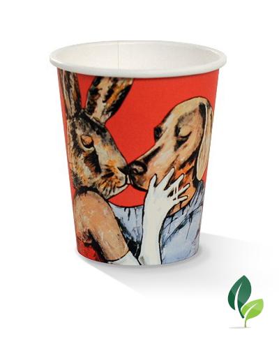 08oz single wall art print cup