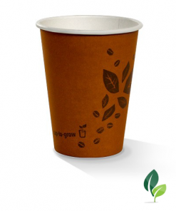 12oz single wall brown eco cup