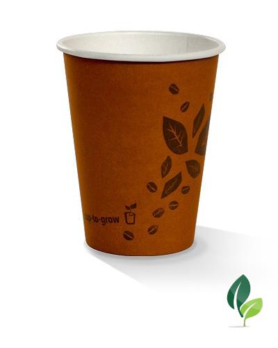 12oz single wall brown eco cup