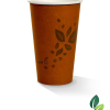 16oz single wall brown eco cup