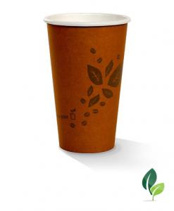 16oz single wall brown eco cup