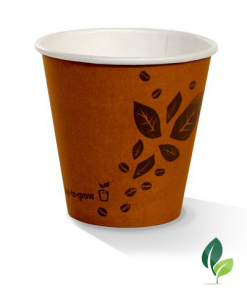 08oz single wall brown eco cup