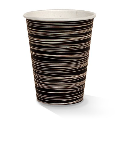 12oz single wall zebra print cup