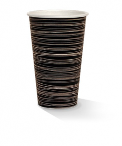 16oz single wall zebra print cup