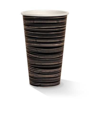 16oz single wall zebra print cup