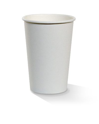 10oz single wall white cup 80mm