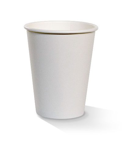 12oz single wall white cup
