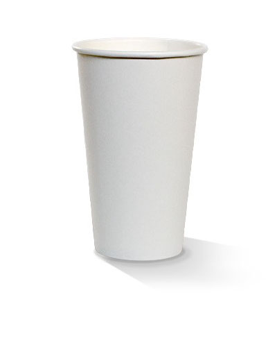 16oz single wall white cup