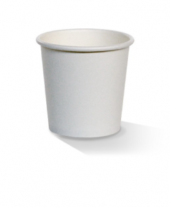 White 04oz Single Wall Cup