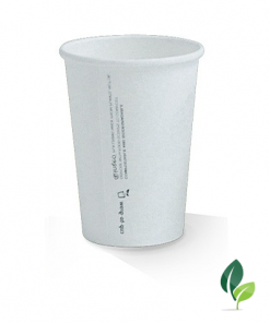 10oz single wall eco white cup 80mm