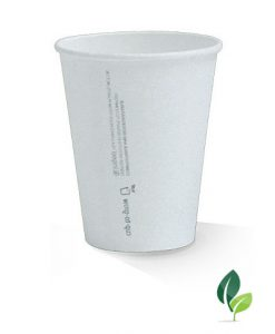 12pz single wall eco white cup