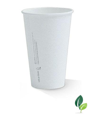 16oz single wall eco white cup