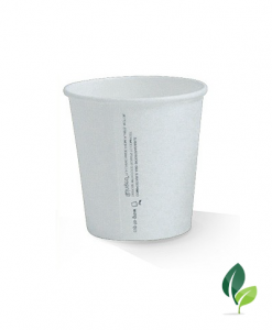 06oz single wall eco white cup 80mm