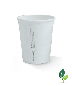 08oz single wall eco white cup 80mm
