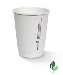 12oz double wall eco white cup