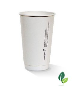 16oz double wall eco white cup