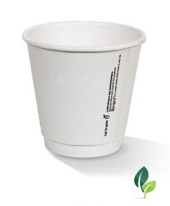 08oz double wall eco white cup