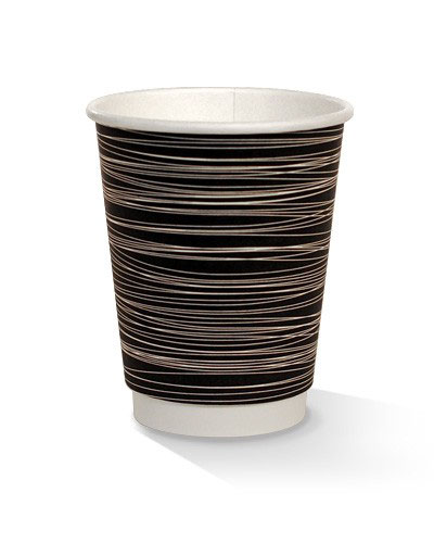12oz double wall zebra print cup