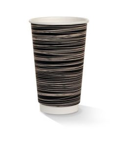 16oz double wall zebra print cup