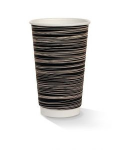 16oz double wall zebra print cup