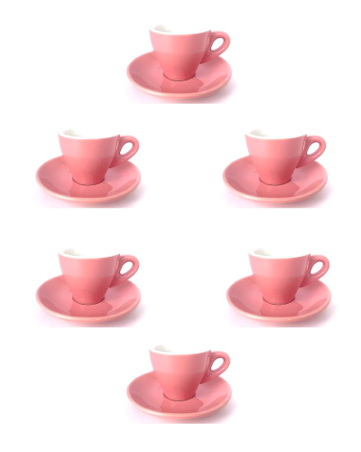 Espresso Cup Set of 12 Gloss Pink | Wholesale Coffee Co.